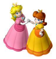 Pegatina Peach y Daisy SSBB.png