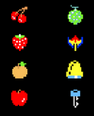 Sprite de las frutas de bonificación en Pac-Man.png
