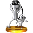 Trofeo de Chibi-Robo y Chibi-Tot SSB4 (3DS).png