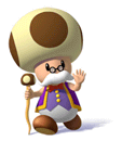 Pegatina de Maestro Kinopio Super Mario Sunshine SSBB.png