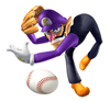 Pegatina Waluigi (Mario Superstar Baseball) SSBB.png