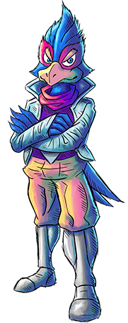 Art oficial de Falco Lombardi en Star Fox 2