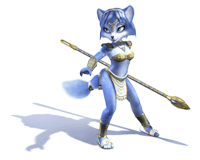 Pegatina Krystal (Star Fox Adventures) SSBB.png