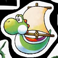 Pegatina de Barco de Yoshi SSBB.png