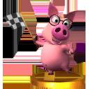 Trofeo de Cerdito consejero SSB4 (3DS).png