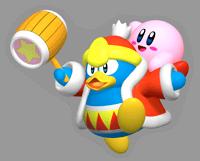 Pegatina de Rey Dedede y Kirby K64TCS SSBB.png