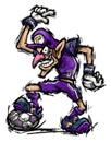 Pegatina de Waluigi Mario Smash Football SSBB.png