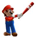 Pegatina Mario (Mario Superstar Baseball) SSBB.png