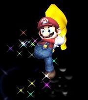 Mario usando su Capa en Super Smash Bros. Brawl.