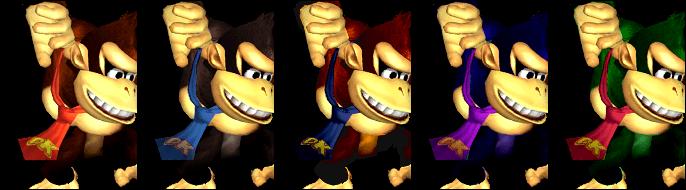 Paleta de colores Donkey Kong SSBM.png