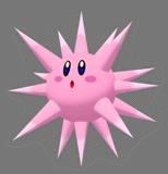 Pegatina de Kirby erizo SSBB.png
