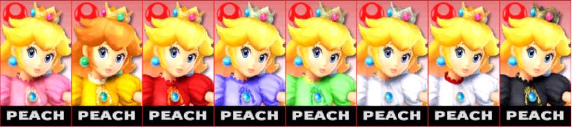 Paleta de colores de Peach SSB4 (3DS).png