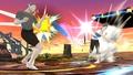 Entrenadora de Wii Fit lanzando el Búmeran SSB4 (Wii U).jpg