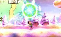 Ness usando Destello PSI en Super Smash Bros. for Nintendo 3DS