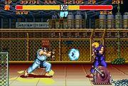 Ryu usando Hadouken contra Ken en Street Fighter II.jpg