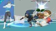 La entrenadora de Wii Fit, Marth y el Aldeano - (SSB. for Wii U).jpg