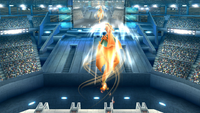 Charizard usando Vuelo en Super Smash Bros. para Wii U