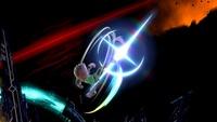 Karateka Mii usando Patadas giratorias en Super Smash Bros. Ultimate