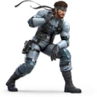 Art oficial de Snake en Super Smash Bros. Ultimate