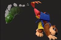 Vista previa del Disparo de Huevos Hacia Atrás en la sección de Técnicas de Super Smash Bros. Ultimate
