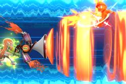 Vista previa de Berreón/Tintófono en la sección de Técnicas de Super Smash Bros. Ultimate