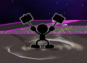Ataque Smash hacia abajo Mr. Game & Watch (1) SSBM.png