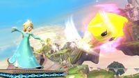 Estela usando el Tiro Destello en Super Smash Bros. para Wii U