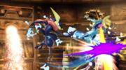 Ataque aéreo hacia adelante (2) Greninja SSB4 (Wii U).png