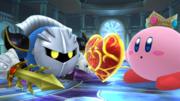 Meta Knight junto a Kirby en la Liga Pokémon SSB4 (Wii U).png