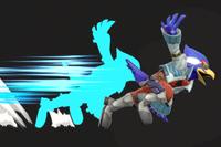 Vista previa de Fantasma Falco en la sección de Técnicas de Super Smash Bros. Ultimate