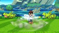 Dr. Mario efectuando el Dr. Tornado en Super Smash Bros. para Wii U