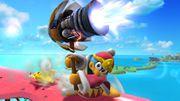 Rey Dedede usando Martillo a Reacción en la Isla de Pilotwings SSB4 (Wii U).jpg