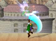 Lanzamiento hacia arriba de Link (2) SSBM.png
