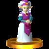 Trofeo de Zelda niña (Ocarina of Time) SSB4 (3DS).png