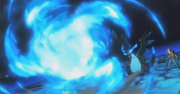 Mega-Charizard X usando Llamarada en Pokémon Los Orígenes.png