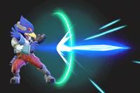 Vista previa del Blaster de Falco en la sección de Técnicas de Super Smash Bros. Ultimate