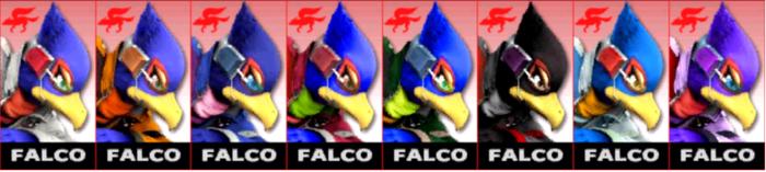 Paleta de colores de Falco SSB4 (3DS).png