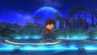 Espadachín Mii en posición de contrataque en Super Smash Bros. for Wii U