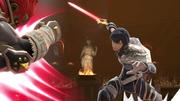 Chrom y Ganondorf en el Coliseo de Regna Ferox SSBU.png