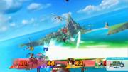 Genesect usando el disparo potente de tecno shock en Pilotwings SSB4 (Wii U).png