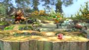 Donkey Kong, Kirby, Link y Yoshi en el Vergel de Esperanza (versión Destino Final) SSB4 (Wii U).png