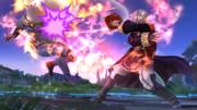 Daraen usando Arcfire contra Sheik en el Campo de batalla SSB4 (Wii U).png