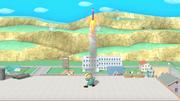 Jeff lanzando un cohete botella SSB4 (Wii U).png