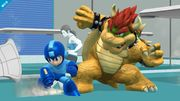 Mega Man, Bowser y entrenadora de Wii Fit SSB4 (Wii U).jpg