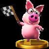Trofeo de Cerdito consejero SSB4 (Wii U).png