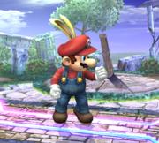 Mario con una capucha de conejo SSBB.png
