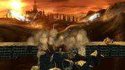 Link, Bowser, Lucario y Zelda en el Gran Puente de Eldin SSB4 (Wii U).jpg
