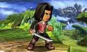 Espadachín Mii con el atuendo de Dunban en Llanuras de Gaur SSB4 (3DS).jpg
