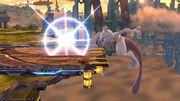 Ataque de recuperación en el borde Mewtwo (1) SSB4 (Wii U).JPG