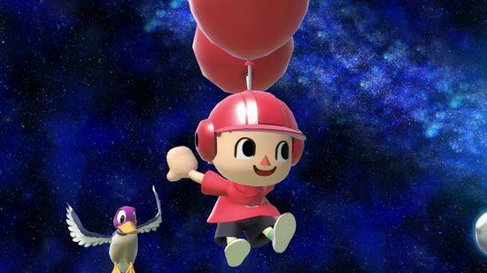 Aldeano y el Pato de Duck Hunt en Mario Galaxy SSBU.jpg